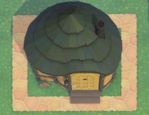 あつ森の家の周りを舗装した図