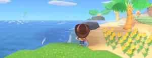 あつ森海岸の風船を眺める