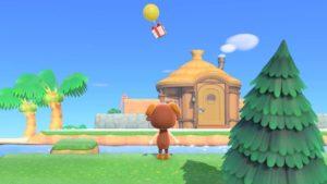あつ森の風船を眺める村人