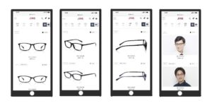 JINSメガネの購入画面
