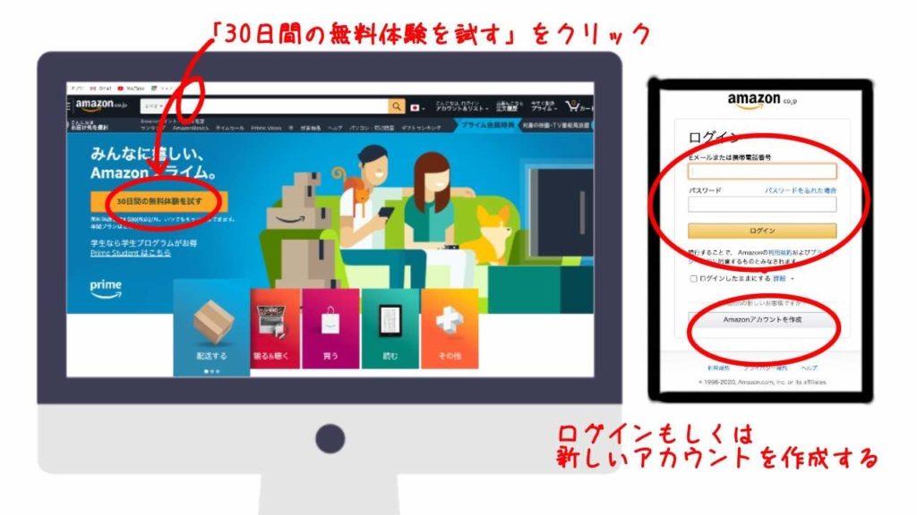 Amazonプライム契約画面(PC)-1