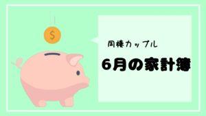 【同棲カップルの家計簿】6月の家計簿大公開